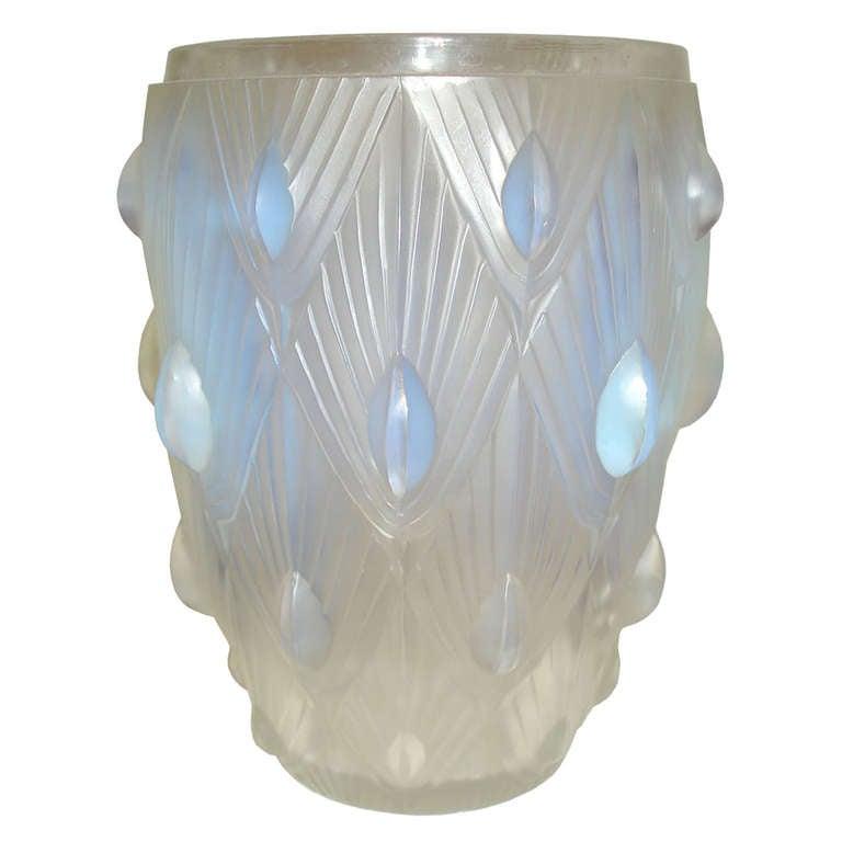 Sabino Art Deco Opalescent Glass Vase At 1stdibs