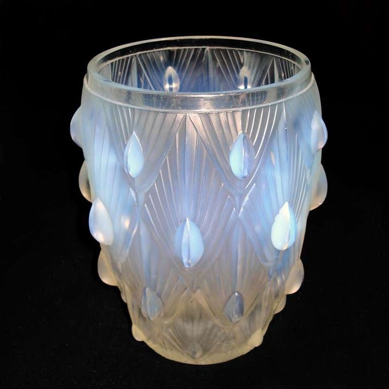 Sabino Art Deco Opalescent Glass Vase For Sale At 1stdibs