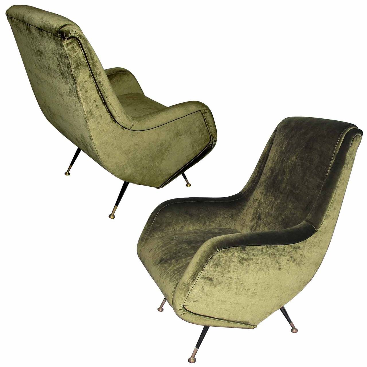 Pair Of Armchairs Designed By Aldo Morbelli For I.S.A. Bergamo For Sale