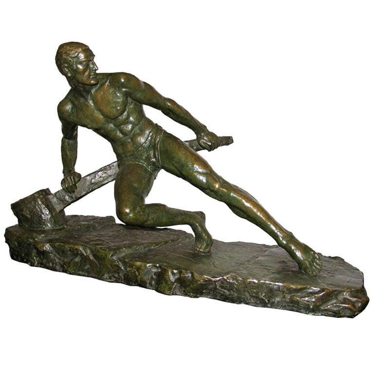 Art Deco Figurative Sculptures - 972 bei 1stdibs erhältlich