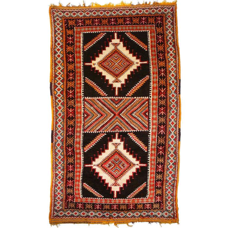 A Vintage Moroccan Berber Rug