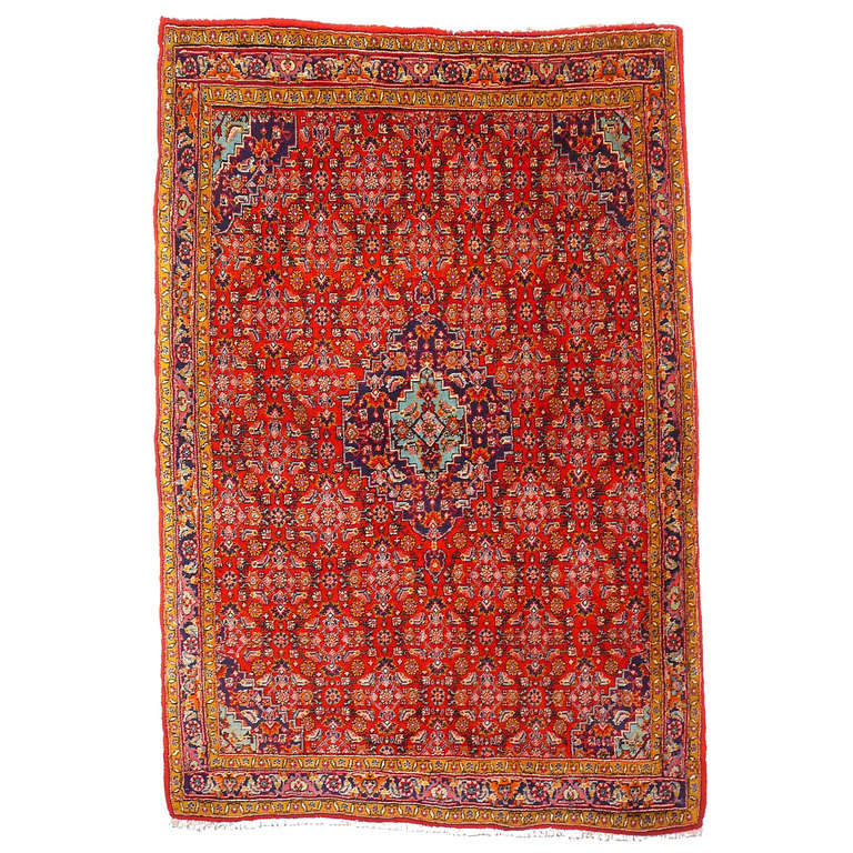 Old brickred Bidjar rug 1