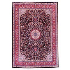 Antique Mashad Amoghli Signed Carpet