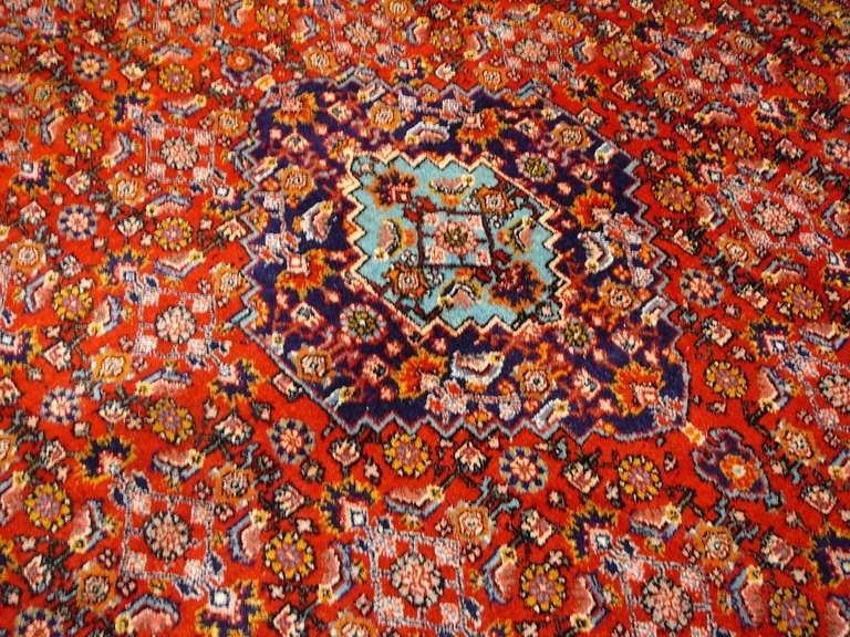 Old brickred Bidjar rug 4