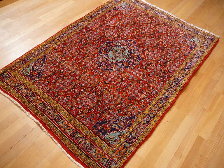 Old brickred Bidjar rug 2