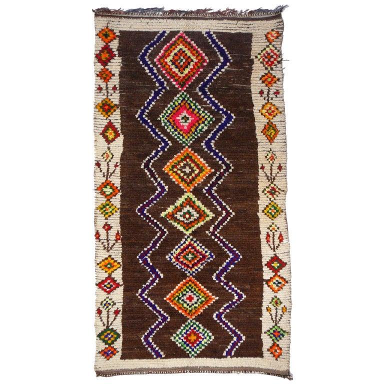 Vintage North African / Moroccan Berber Rug