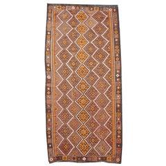 Oversized Vintage Turkoman Afghan Kizil Ayak Kilim Area Rug