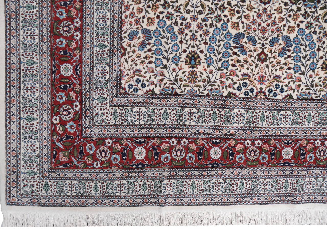 Hand-Knotted Fine Vintage Turkish Hereke Carpet For Sale
