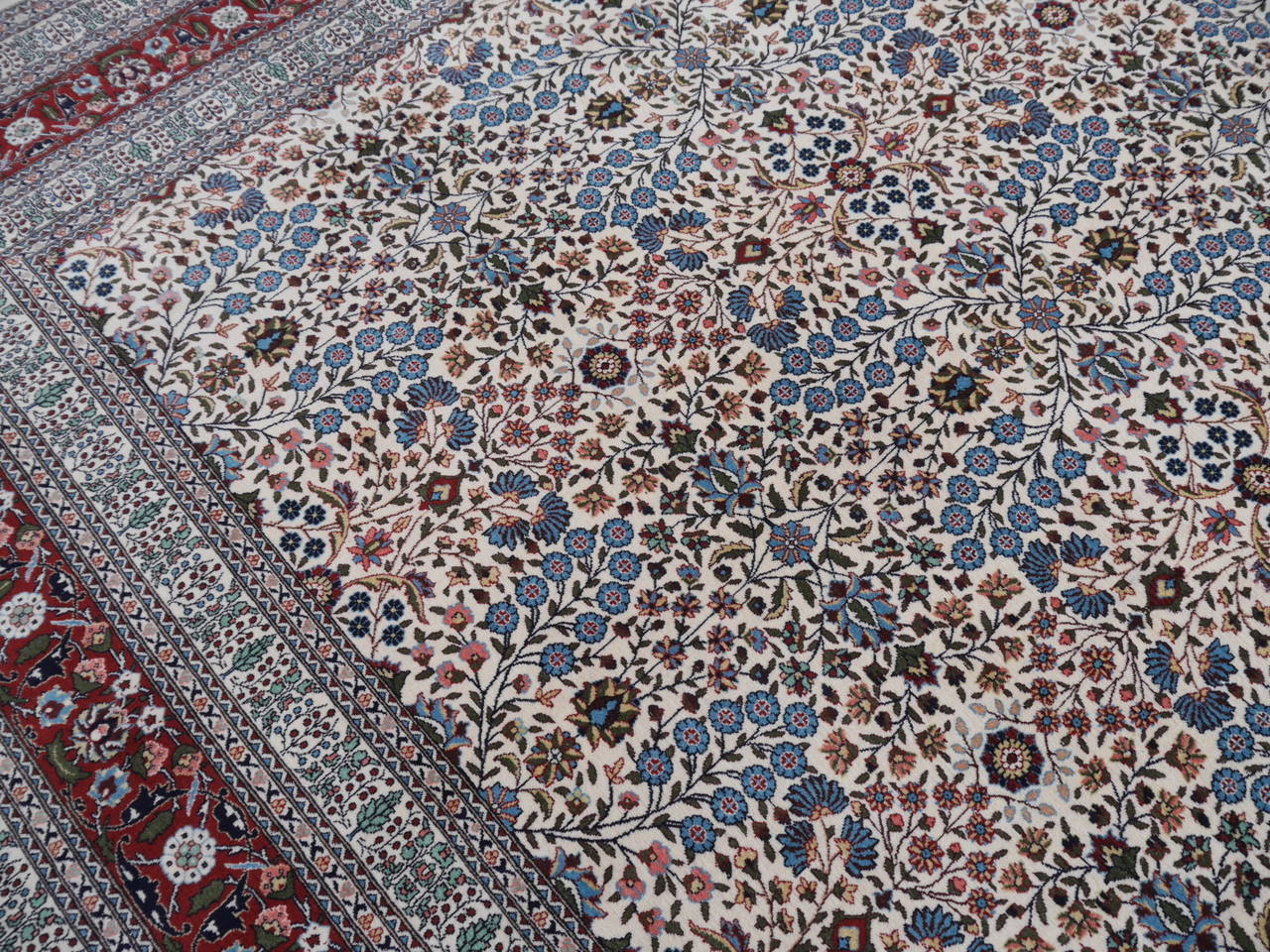 20th Century Fine Vintage Turkish Hereke Carpet For Sale
