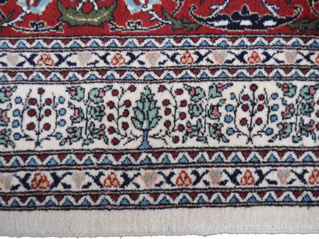 Wool Fine Vintage Turkish Hereke Carpet For Sale