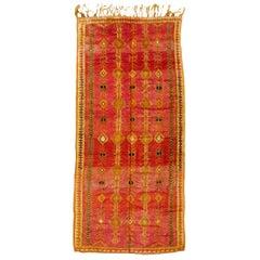 Fantastic Vintage North African Tribal Berber Carpet