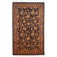 Fine Contemporary Wool and Silk Srinagar Carpet