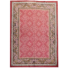 Antique French Art Nouveau Hand-Knotted Carpet