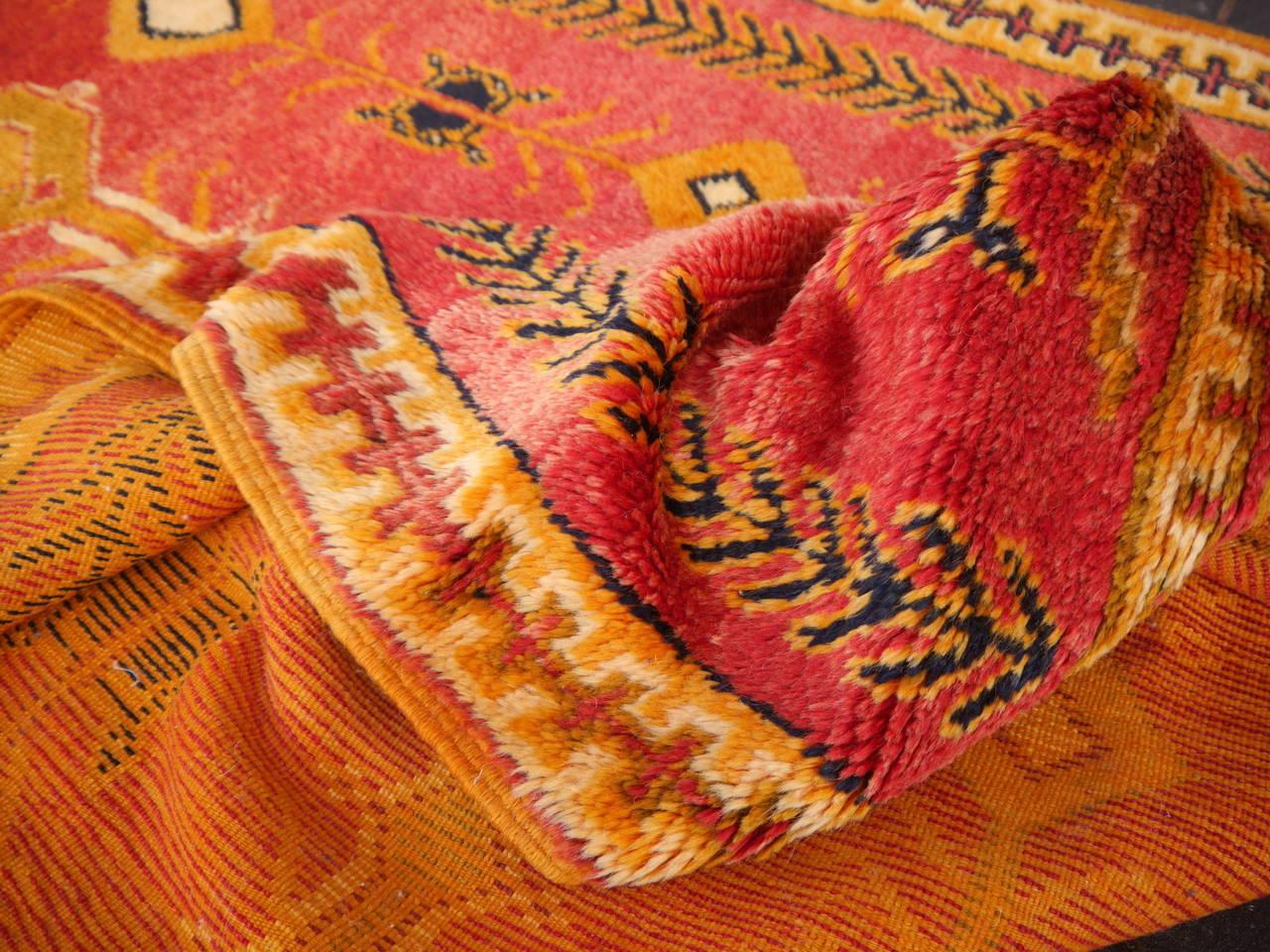 Fantastic Vintage North African Tribal Berber Carpet 3