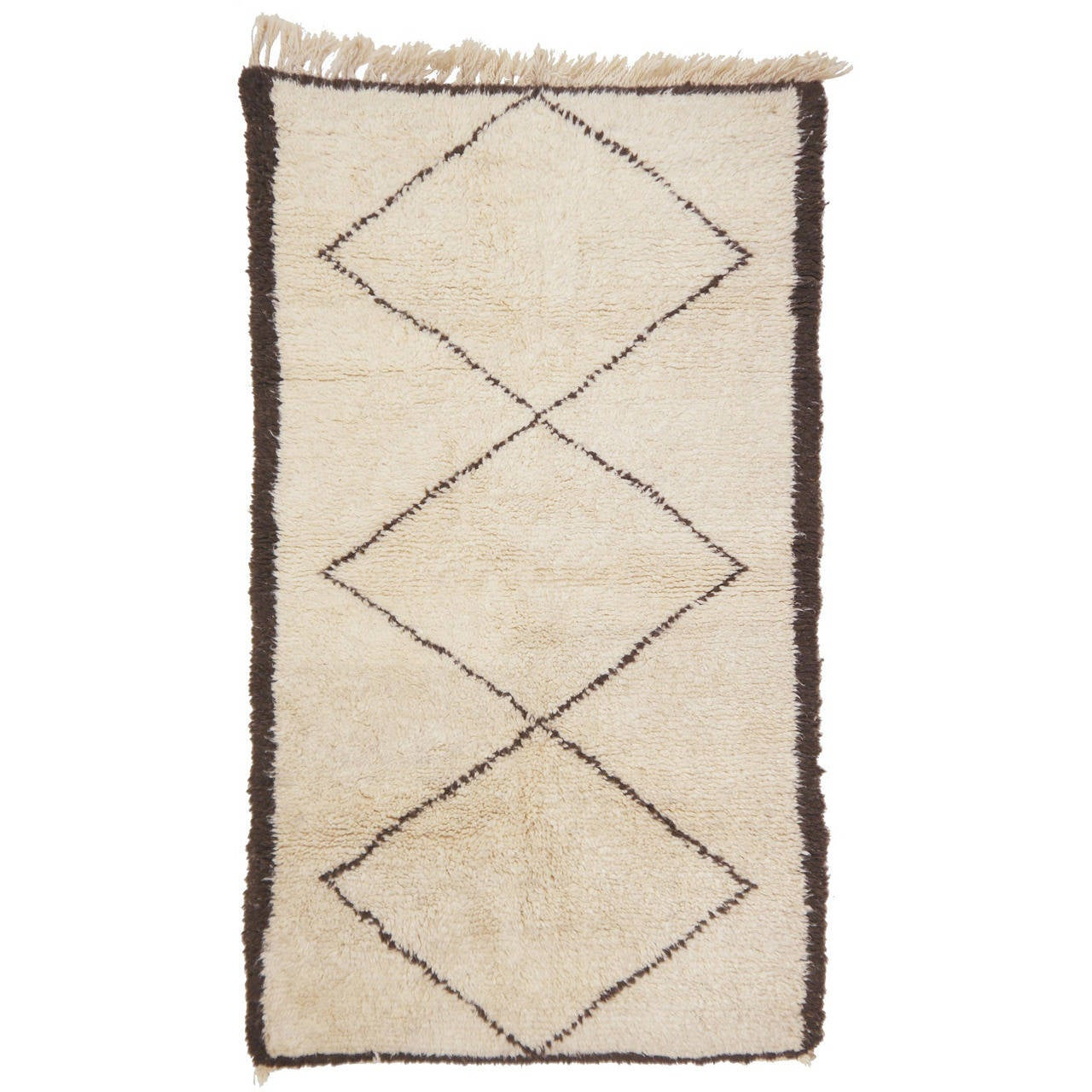 beni ourain moroccan small size rug at 1stdibs. Black Bedroom Furniture Sets. Home Design Ideas