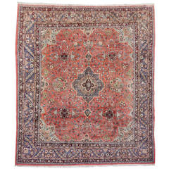 Vintage Malayer Persian Rug - almost square Carpet