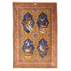 Fine Persian Qum Silk Rug