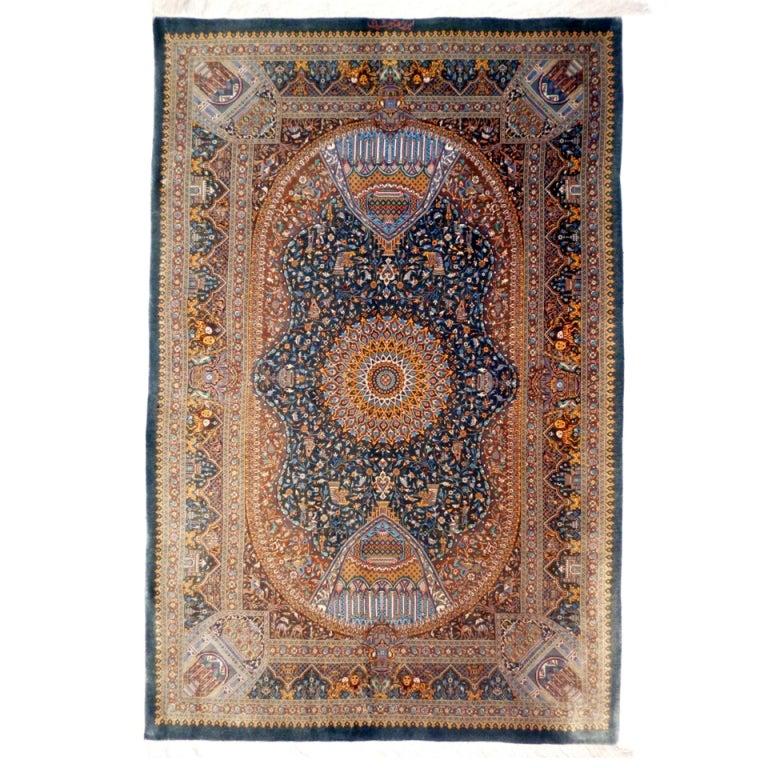 Persian Empire Qum Silk Rug