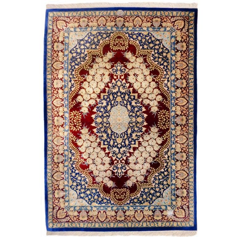 Pure Persian Qum Silk Rug
