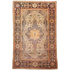 19th Century Mohtasham Kashan Fine and Rare Collectors Rug