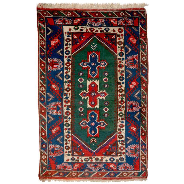 Turkish Ground Rug: Vintage Turkish Anatolian Rug At 1stdibs