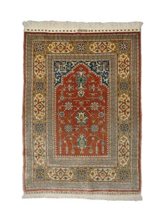 Pure silk Hereke Ozipek Prayer rug
