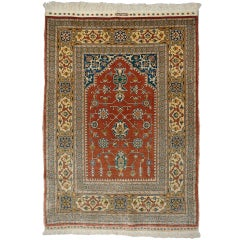 Pure silk Hereke Ozipek Prayer rug