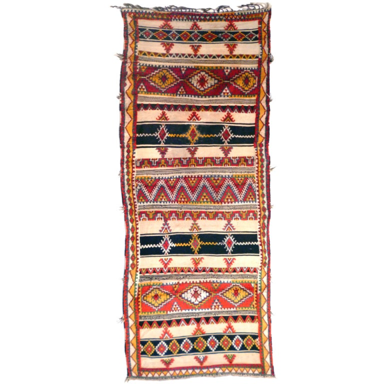 Vintage North African Berber Long Rug