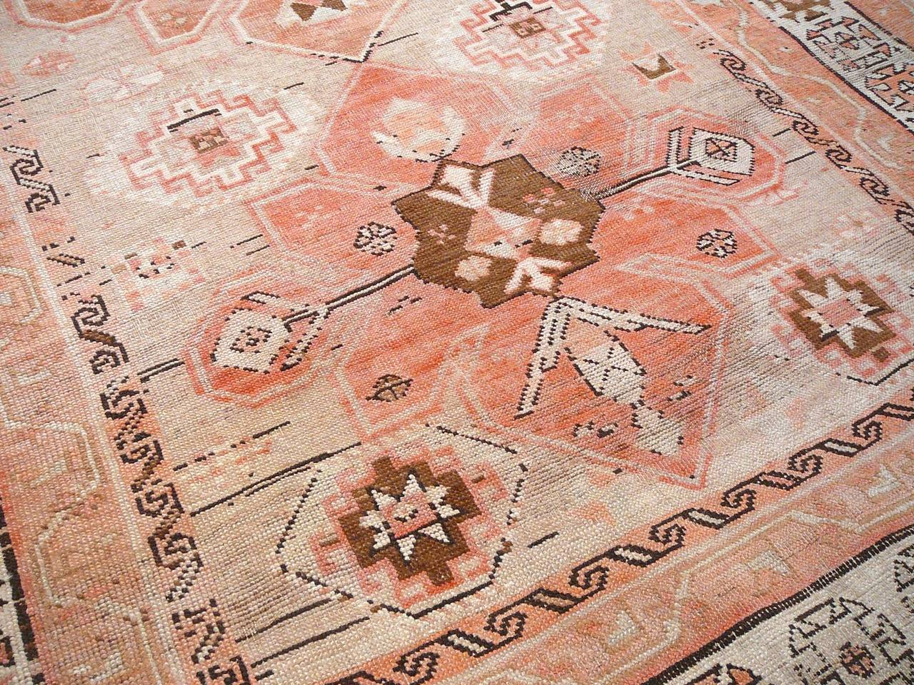 Tribal Antique Caucasian Karabagh Rug For Sale