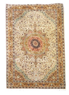 Fine Rug Vintage Turkish Hereke Carpet Oversize circa 17 x 11 ft