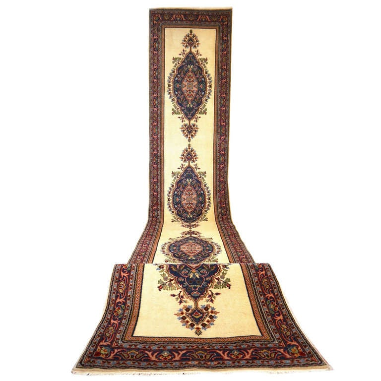 Vintage Turkish Long Runner Rug For Sale