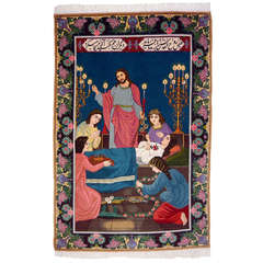 Pictoral Persian Wallhanging Rug