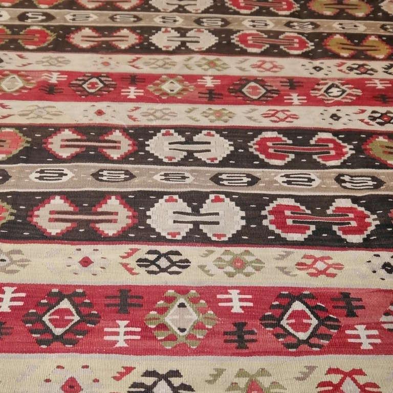 Tribal Sharkoy Old Balkan Kilim For Sale