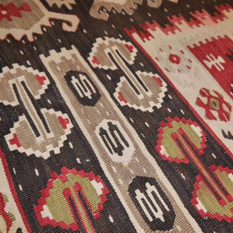 Hand-Woven Sharkoy Old Balkan Kilim For Sale