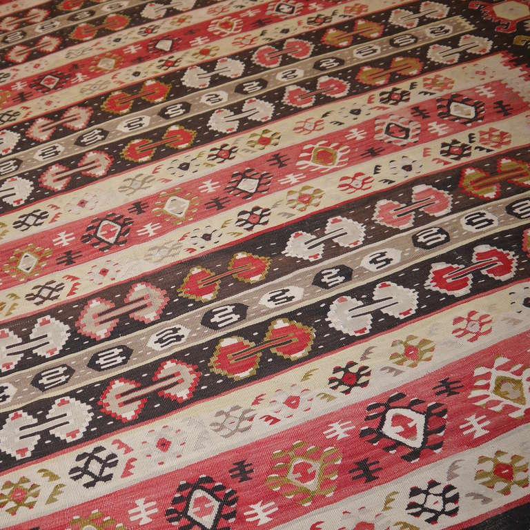 Wool Sharkoy Old Balkan Kilim For Sale