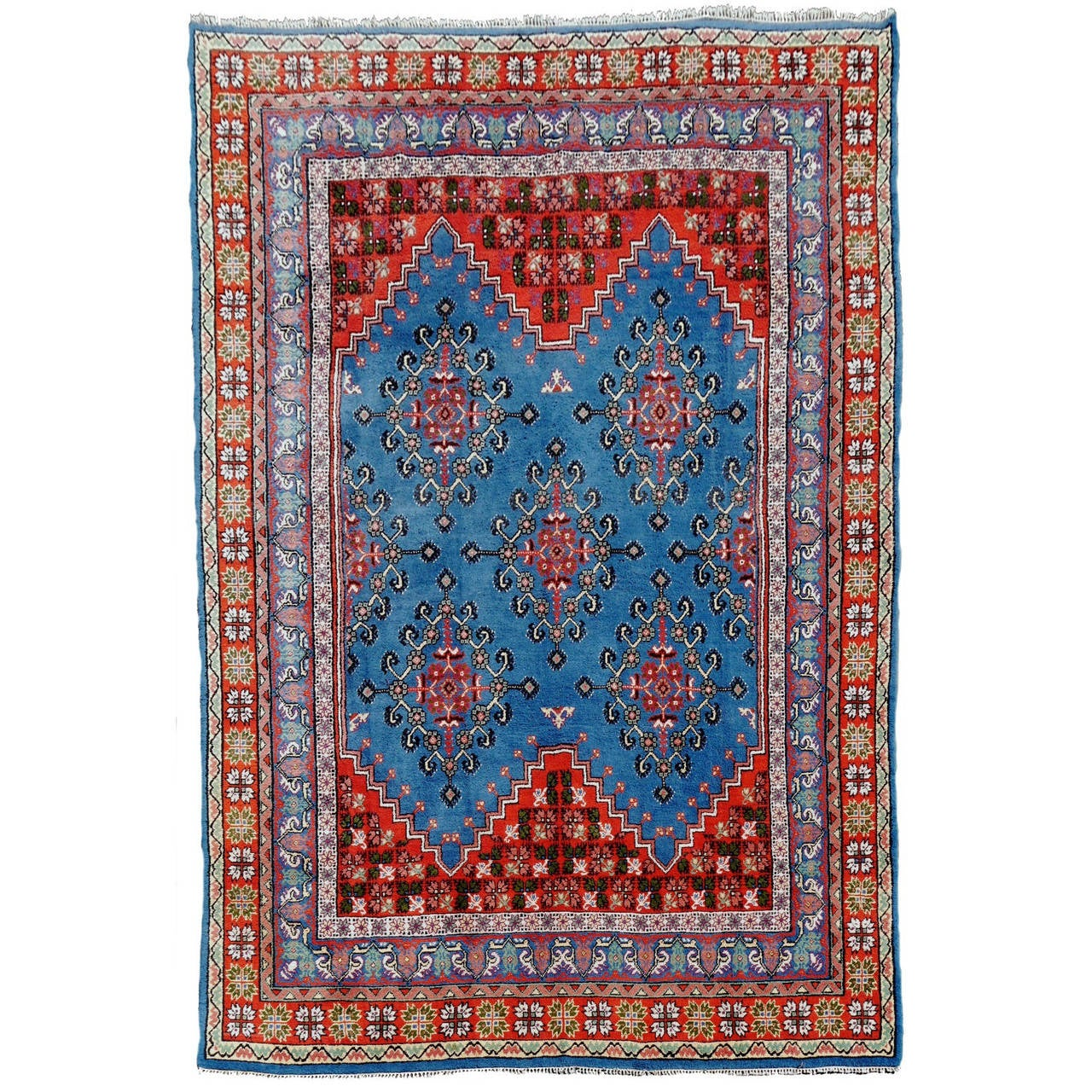 Large Moroccan North African Vintage Berber Rug For Sale