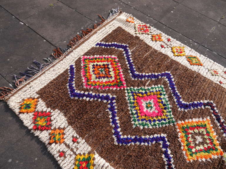 Mid-20th Century Vintage North African / Moroccan Berber Rug For Sale