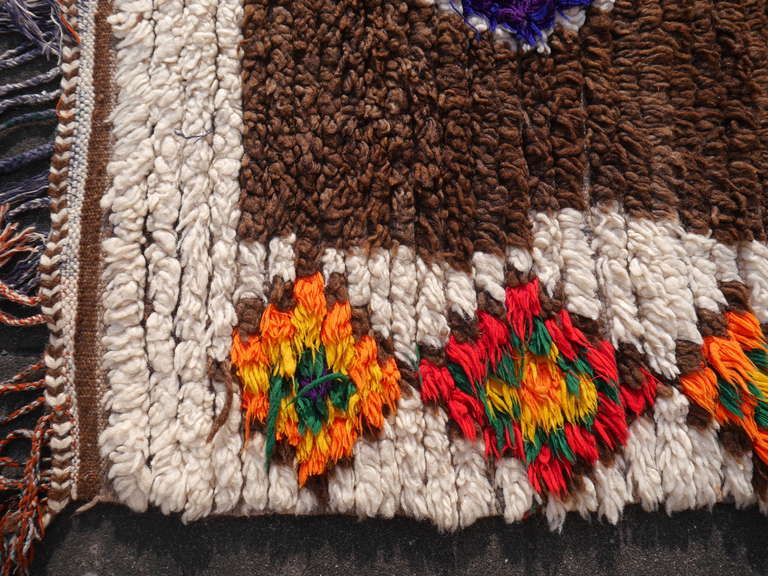 Wool Vintage North African / Moroccan Berber Rug For Sale