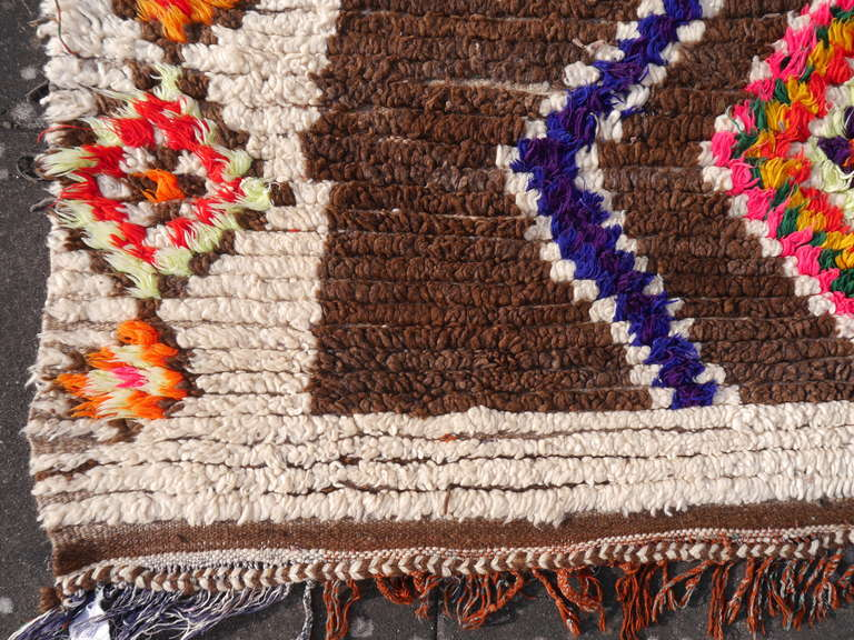 Hand-Knotted Vintage North African / Moroccan Berber Rug For Sale