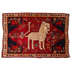 Tribal Vintage Nomadic Lion Rug