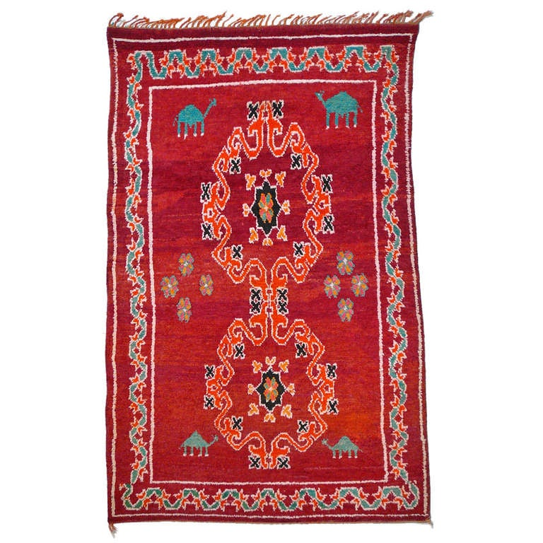 Stunning Vintage North African Rug At 1stdibs