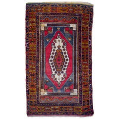 Vintage Turkish YahYali Rug