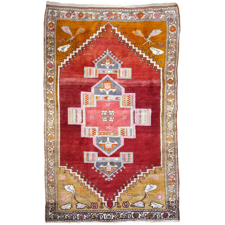 What Makes Turkish Rugs Great How You Can Read The Design Of A Turkish Rug: Tribal Vintage Turkish Yoruk Rug For Sale At 1stdibs