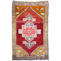 Tribal Vintage Turkish Yoruk Rug