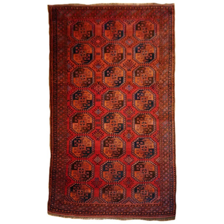 Antique Turkmen Gentlemens Carpet Large Size For Sale
