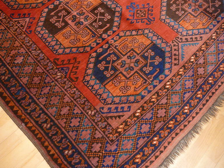 Hand-Knotted Antique Turkmen Gentlemens Carpet Large Size For Sale