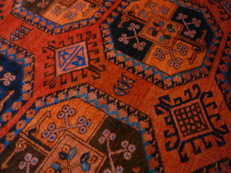 Tribal Antique Turkmen Gentlemens Carpet Large Size For Sale