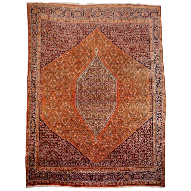 Large Semi Antique Bidjar Rug For Sale