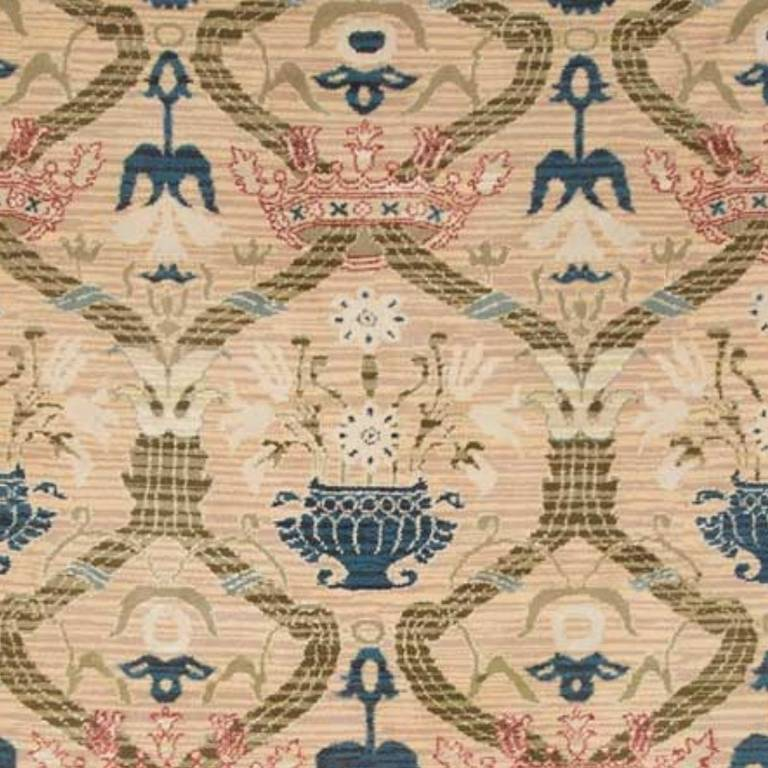 Antique Spanish Rug with Crowns 2