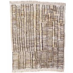"Beni Ourain Vintage Rug in ""Manhattan Design"""